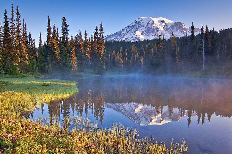 Sunrise at Reflection Lake, Mt. Rainier National Park
