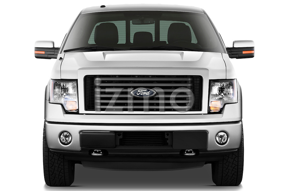 Straight front view of a   2013 Ford F150 FX4 crew cab