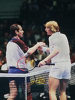 1992, ABNWTT, John McEnroe en Boris Becker(r)
