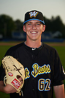 West Virginia Black Bears pitcher Brandon Waddell (62) poses for a photo before a game against the Batavia Muckdogs on August 31, 2015 at Dwyer Stadium in Batavia, New York.  Batavia defeated West Virginia 5-4.  (Mike Janes/Four Seam Images)