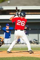 Ryder Jones (26) of Watauga High School at bat at the 2012 South Atlantic Border Battle on November 3, 2012 in Burlington, North Carolina.  The Mets (SC13) defeated the Red Sox (NC 13) 3-2.  (Brian Westerholt/Four Seam Images)