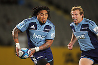 Ma'a Nonu on attack during the Super 15 rugby match between the Blues and the Sharks at Eden Park, Auckland, New Zealand on Friday, 13 April 2012. Photo: Dave Lintott / lintottphoto.co.nz