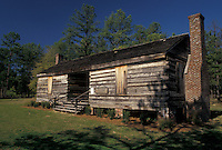 log cabin, cemetery, Alabama, Phenix City, AL, Log Cabin at Fort Mitchell National Cemetery in Phenix City.