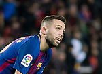 Jordi Alba Ramos of FC Barcelona reacts during the La Liga 2017-18 match between FC Barcelona and Levante UD at Camp Nou on 07 January 2018 in Barcelona, Spain. Photo by Vicens Gimenez / Power Sport Images