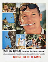 Chesterfield cigarette ad, J. Walter Thompson, 1963. Photo by John G. Zimmerman