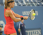 Aleksandra Krunic (SRB) loses to Victoria Azarenka (BLR) 4-6, 6-4, 6-4 at the US Open being played at USTA Billie Jean King National Tennis Center in Flushing, NY on September 1, 2014