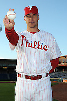 Feb 20, 2009; Clearwater, FL, USA; The Philadelphia Phillies pitcher Justin Lehr (70) during photoday at Bright House Field. Mandatory Credit: Tomasso De Rosa/ Four Seam Images