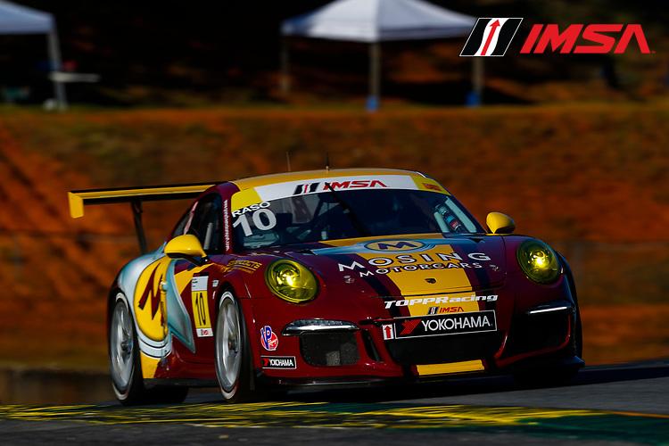 IMSA Porsche GT3 Cup Challenge USA<br /> Road Atlanta<br /> Road Atlanta, Braselton GA<br /> Wednesday 4 October 2017<br /> 10, Frank Raso, GT3G, USA, 2016 Porsche 991<br /> World Copyright: Jake Galstad<br /> LAT Images