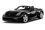 2015 Porsche Boxster 2 Door Convertible Angular Front stock photos of front three quarter view