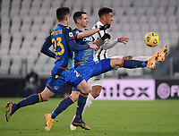 3rd January 2021, Allianz Stadium, Turin Piedmont, Italy; Serie A Football, Juventus versus Udinese; Danilo of Juventus vies with Kevin Lasagna of Udinese