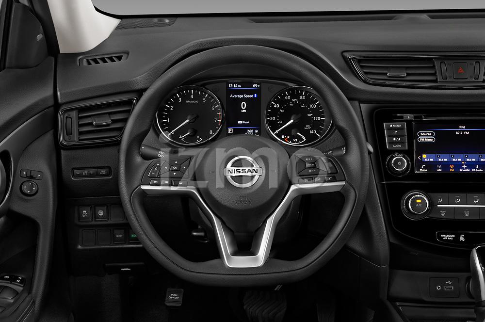 Car pictures of steering wheel view of a 2020 Nissan Rogue S 5 Door SUV Steering Wheel
