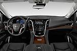 Stock photo of straight dashboard view of 2020 Cadillac Escalade-ESV Premium-Luxury 5 Door SUV Dashboard