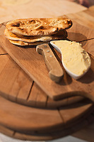 Europe/Voïvodie de Petite-Pologne/Cracovie: Galettes de pain: Podplomyki au restaurant: Polskie Jaddlo Klasyka Polska