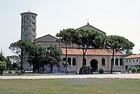 Italy: Ravenna--St. Appolinare in Classe, 5 K. from Ravenna. Early 6th C.; Campanile, 10th C. Photo '83.