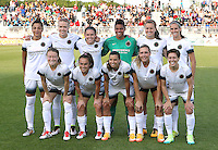 Boyds, MD - Saturday May 07, 2016: Portland Thorns staring eleven before a regular season National Women's Soccer League (NWSL) match at Maureen Hendricks Field, Maryland SoccerPlex. Washington Spirit tied the Portland Thorns 0-0.