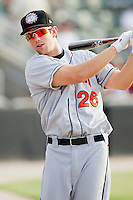 Steven Souza #26 of the Hagerstown Suns prior to the game against the Kannapolis Intimidators at CMC-Northeast Stadium on June 9, 2012 in Kannapolis, North Carolina.  The Suns defeated the Intimidators 11-6.  (Brian Westerholt/Four Seam Images)