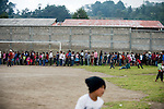 Residents of San Marcos await for emergency food aid 5 days after a 7.4 earthquake struck Guatemala Wednesday Nov. 7.