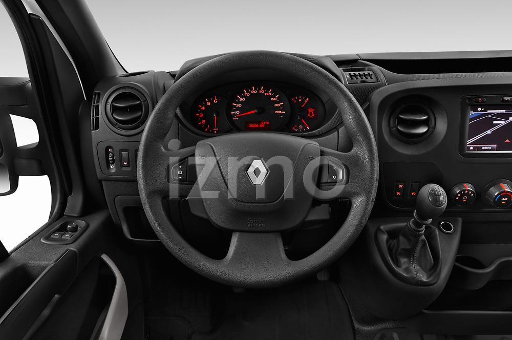 Car pictures of steering wheel view of a 2019 Renault Master L3h2 4 Door Cargo Van