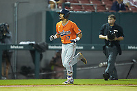 Will Holland (17) of the Auburn Tigers jogs towards home plate after hitting a home run against the Army Black Knights at Doak Field at Dail Park on June 2, 2018 in Raleigh, North Carolina. The Tigers defeated the Black Knights 12-1. (Brian Westerholt/Four Seam Images)