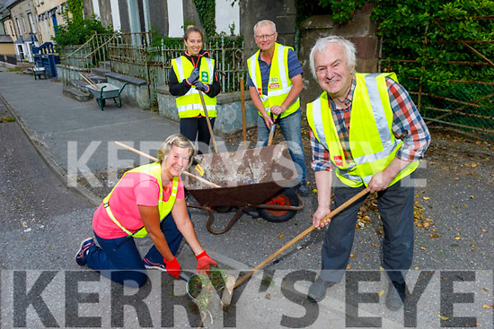 Members of the Blennerville Tidy Towns doing a clean up of Blennerville on Thursday evening. Kneeling: Maura Sullivan with Joe Buckley..<br /> Back l to r: Karen and Johnny Walsh