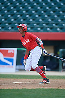 Ilvin Fernandez (7) during the Dominican Prospect League Elite Underclass International Series, powered by Baseball Factory, on August 2, 2017 at Silver Cross Field in Joliet, Illinois.  (Mike Janes/Four Seam Images)