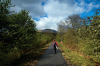 Walking along The Great Trossachs Path near Callander, Loch Lomond and the Trossachs National Park, Stirlingshire