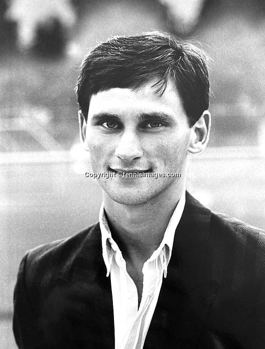 June 14, 1987, Netherlands, Dutch National Championships, Rene Moos (NED)<br /> Photo: Tennisimages/Henk Koster