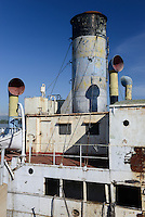 "KENYA Kisumu, old steam vessel SS Nyanza built 1907 by Bow, McLachlan and Company of Paisley in Renfrewshire, Scotland as knock down"" vessel; that is, she was bolted together in the shipyard at Paisley, all the parts marked with numbers, disassembled into many hundreds of parts and transported in kit form by sea to Kenya for reassembly, since 2002 out of service / KENIA  Kisumu, altes Dampfschiff Nyanza, gebaut 1907 von Bow, McLachlan and Company of Paisley in Renfrewshire, Scotland, seit 2002 ausser Dienst"