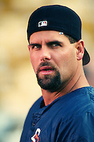 Ken Caminiti of the San Diego Padres at Dodger Stadium in Los Angeles,California during the 1996 season. (Larry Goren/Four Seam Images)