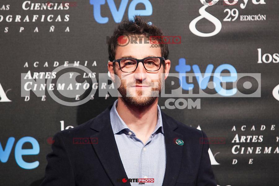 Daniel Rovira poses before the 2015 Goya Awards nominee ceremony in Madrid, Spain. January 19, 2015. (ALTERPHOTOS/Victor Blanco)