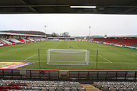 General view of the ground during Stevenage vs Newport County, Sky Bet EFL League 2 Football at the Lamex Stadium on 7th January 2017