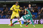 Alfred N'Diaye (l) of Villarreal CF fights for the ball with Ion Echaide Sola of CD Toledo during their Copa del Rey 2016-17 match between Villarreal CF and CD Toledo at the Estadio El Madrigal on 20 December 2016 in Villarreal, Spain. Photo by Maria Jose Segovia Carmona / Power Sport Images