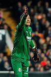 Goalkeeper Sergio Asenjo Andres of Villarreal CF gestures during the La Liga 2017-18 match between Valencia CF and Villarreal CF at Estadio de Mestalla on 23 December 2017 in Valencia, Spain. Photo by Maria Jose Segovia Carmona / Power Sport Images