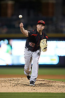 Rochester Red Wings relief pitcher Addison Reed (48) delivers a pitch to the plate against the Charlotte Knights at BB&T BallPark on May 14, 2019 in Charlotte, North Carolina. The Knights defeated the Red Wings 13-7. (Brian Westerholt/Four Seam Images)