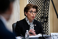 Jovita Carranza, administrator of the U.S. Small Business Administration (SBA), speaks during a US Senate Small Business and Entrepreneurship Committee hearing in Washington, D.C., U.S., on Wednesday, June 10, 2020. The hearing examines the government's virus relief package that offers emergency assistance to small businesses. <br /> Credit: Al Drago / Pool via CNP/AdMedia