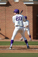 Ryan Mason (20) of the High Point Panthers at bat against the NJIT Highlanders at Williard Stadium on February 19, 2017 in High Point, North Carolina. The Panthers defeated the Highlanders 6-5. (Brian Westerholt/Four Seam Images)