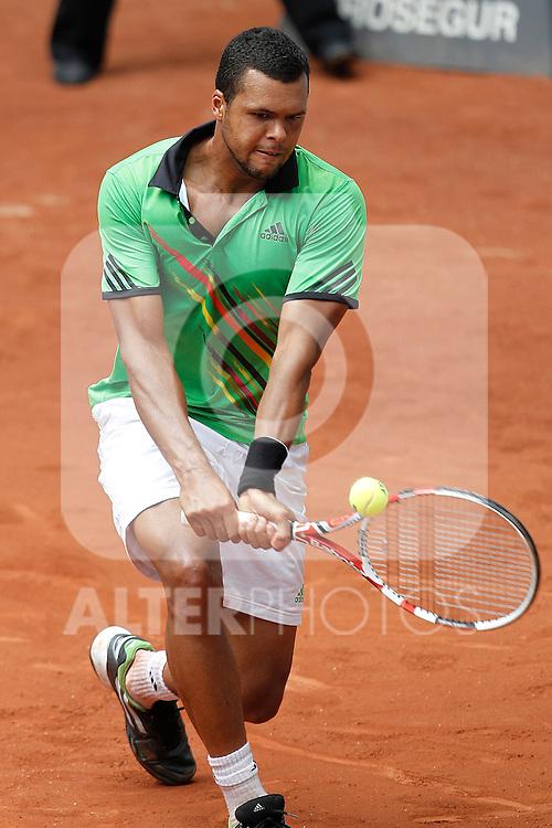 France's Jo-Wilfried Tsonga during Mutua Madrid Tennis Open on May 3rd, 2011...Photo: Cesar Cebolla  / ALFAQUI