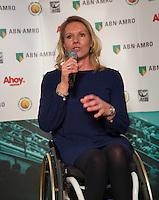 Rotterdam, Netherlands, Januari 06, 2016,  Press conference ABNAMROWTT, Wheelchair Tournament Director Esther Vergeer<br /> Photo: Tennisimages/Henk Koster
