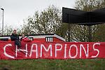 © Joel Goodman - 07973 332324 . 25/04/2015 . Salford , UK . Fans . Evostick League champions , Salford FC , play Osset Town , in Salford . Photo credit : Joel Goodman