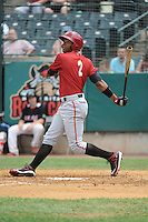 Altoona Curve outfielder Andy Vasquez (2) during game against the New Britain Rock Cats  at New Britain Stadium on June 25, 2014 in New Britain, Connecticut. New Britain defeated Altoona 3-1.  (Tomasso DeRosa/Four Seam Images)