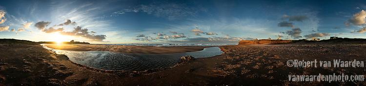 Panorama of Cousins Shore, Prince Edward Island, Canada.