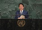 72 General Debate – 20 September <br /> <br /> <br /> His Excellency Shinzo Abe, Prime Minister of Japan