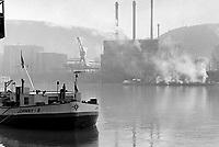 - Switzerland, the industrial area of Basel on Rhine  river<br /> <br /> - Svizzera, la zona industriale di Basilea sul fiume Reno