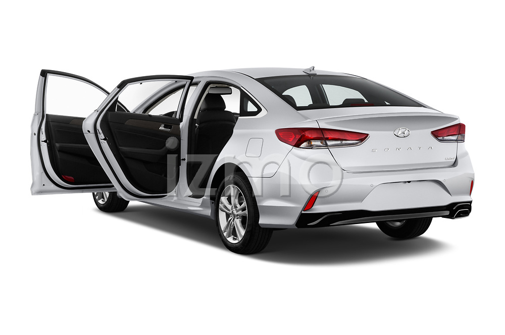 Car images close up view of a 2018 Hyundai Sonata Limited 4 Door Sedan doors