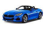 2020 BMW Z4 Base 2 Door Convertible angular front stock photos of front three quarter view