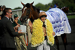 Photo By Michael R. Schmidt.I'm A Dreamer (IRE)(2) with jockey Hayley Turner aboard wins the Beverly D. Saturday afternoon at Arlington Park.