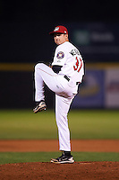 Tri-City ValleyCats pitcher Scott Weathersby (37) delivers a pitch during a game against the Brooklyn Cyclones on September 1, 2015 at Joseph L. Bruno Stadium in Troy, New York.  Tri-City defeated Brooklyn 5-4.  (Mike Janes/Four Seam Images)