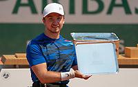 Paris, France, 7 june 2021, Tennis, French Open, Roland Garros, Quad  Wheelchair mens singles final:  Sam Schroder (NED) runner up.<br /> Photo: tennisimages.com