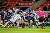 20th November 2020; AJ Bell Stadium, Salford, Lancashire, England; English Premiership Rugby, Sale Sharks versus Northampton Saints; Akker van Der Merwe of Sale Sharks makes a break