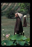 France, Bergerac<br /> Thich Nhat Han, Vietnamese Buddhist monk at Plum Village.